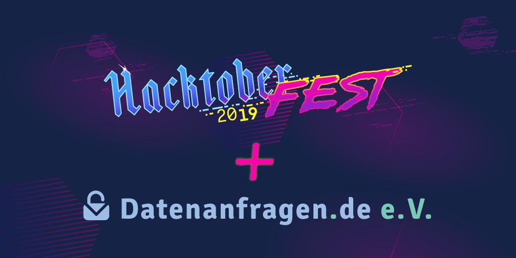 Hacktoberfest 2019 + Datenanfragen.de e. V.