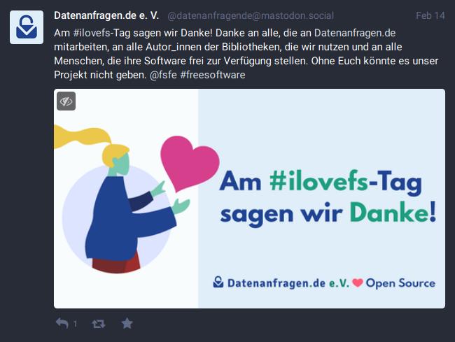 Über Mastodon und Twitter wollen wir mehr über Datenanfragen.de informieren